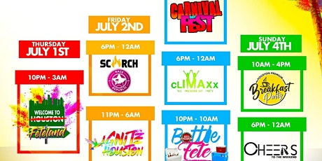 Caribbean Fete Weekend Houston July 1st to 4th tickets