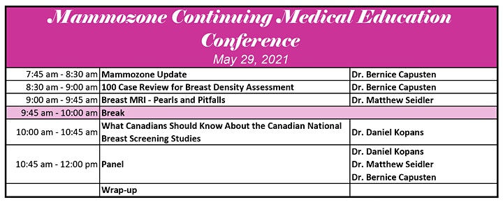 Mammozone Continuing Medical Education Conference image