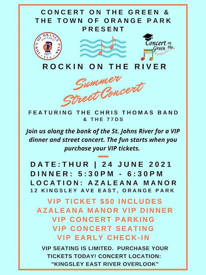 """Rockin on the River"" VIP Dinner At Azaleana Manor & Concert Tickets image"