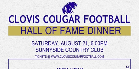 Clovis Football Hall of Fame Induction Dinner 2021 tickets