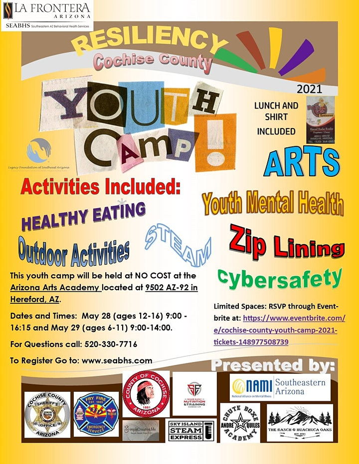 COCHISE COUNTY YOUTH CAMP 2021 image