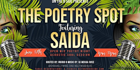 Copy of THE POETRY SPOT Featuring SAIDA PROSPER tickets