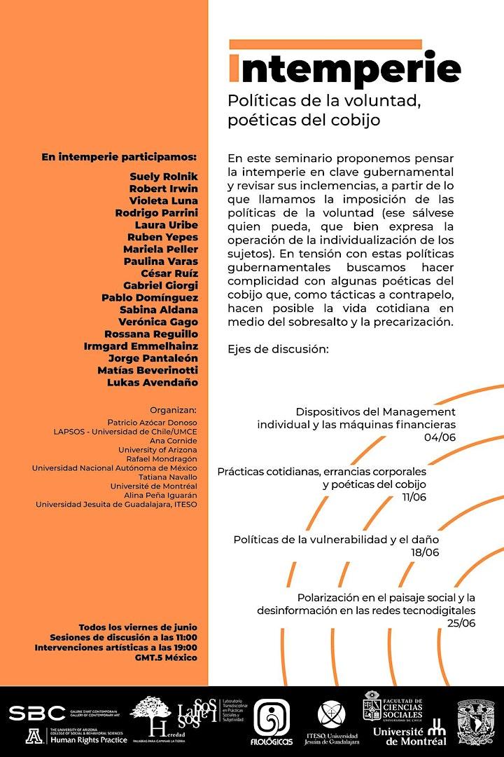 Imagen de Intemperie: Políticas de voluntad poéticas del cobijo