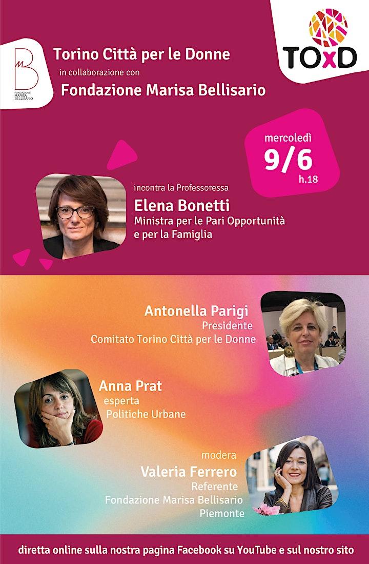 Immagine Torino Città per le Donne incontra  la Ministra Elena Bonetti
