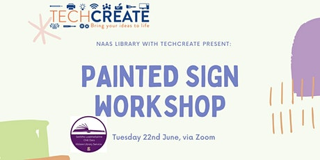 Painted Sign Workshop, with TechCreate tickets