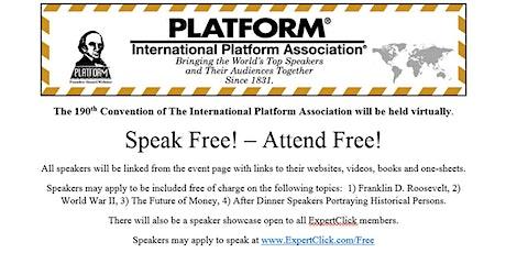 190th  International Platform Convention tickets