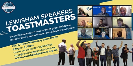 Grow your confidence and improve your public speaking tickets