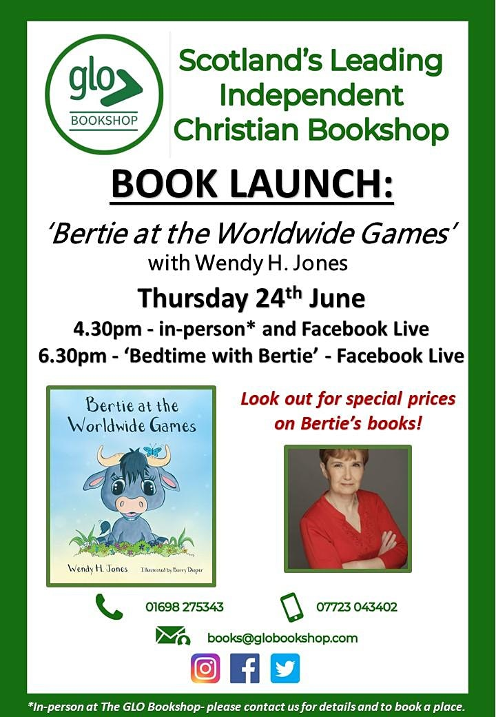 Bertie at the Worldwide Games  In-Person Book Reading with Wendy H. Jones image