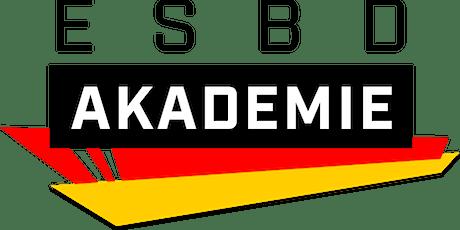 ESBD C-Trainer Lizenz Blockmodul 2 [online] Arbeitsfeld & Trainingslehre Tickets