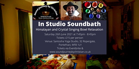 In Studio - Soundbath Himalayan and Crystal Singing Bowl Relaxation tickets