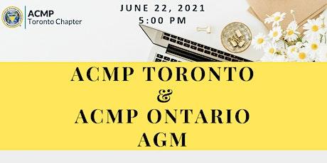 ACMP Toronto & ACMP Ontario AGM tickets
