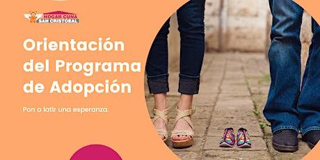 Orientación del Programa de Adopción boletos