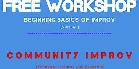 Online Improv Class - FREE tickets