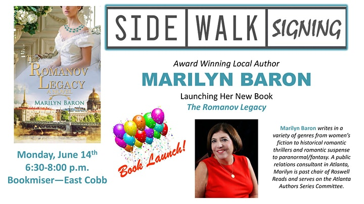 Sidewalk Signing (Book Launch) with Author MARILYN BARON image