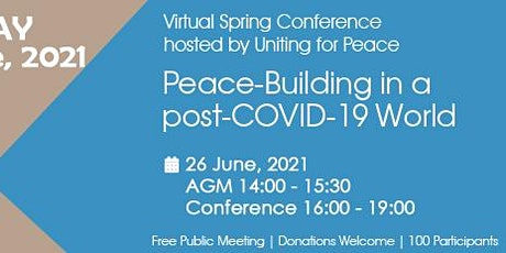 Peace-Building in a post-COVID-19 World - Virtual Meeting tickets