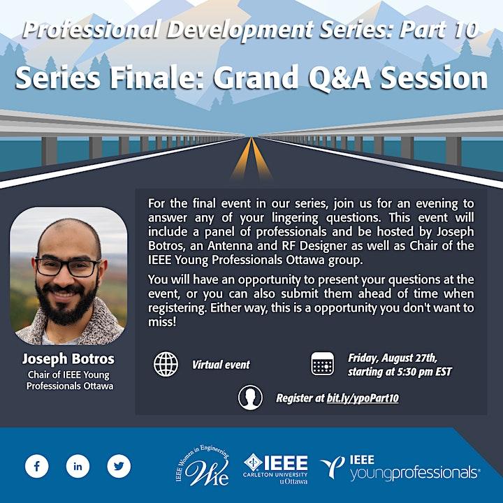 Professional Development Series Finale: Grand Q&A Session image