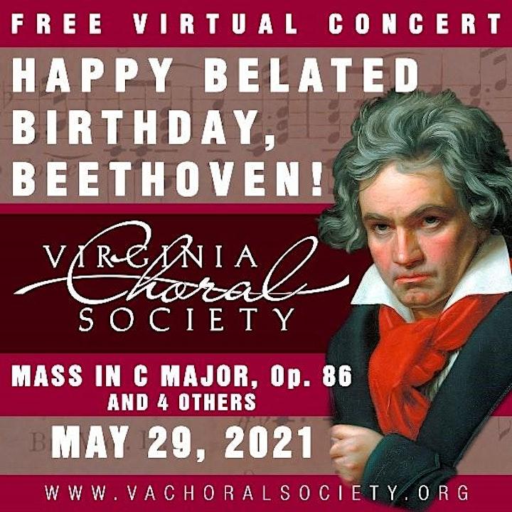 Virginia Choral Society's Happy Belated Birthday, Beethoven  – Virtual image