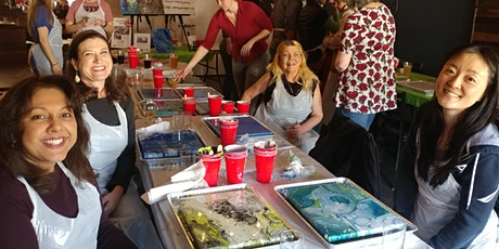 Acrylic Pour Event at Device Brewing with Creatively Carrie! tickets