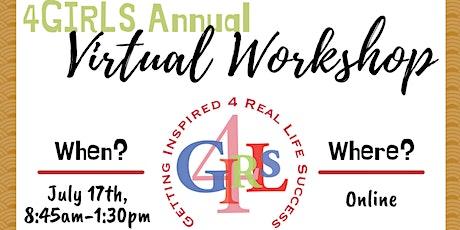 4GIRLS 2021 Empowerment Virtual Workshop tickets
