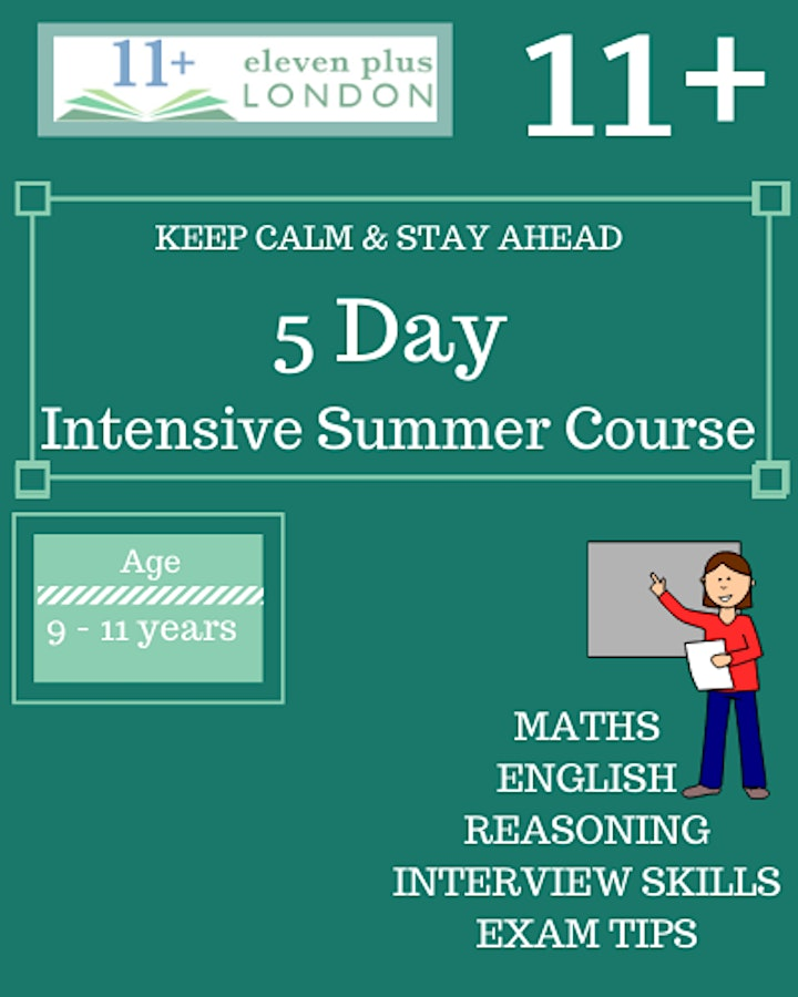 5 Day Intensive 11+ Summer Course (Face to Face) image