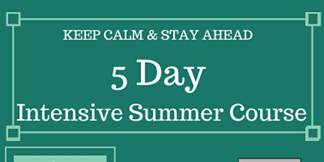 5 Day Intensive 11+ Summer Course (Face to Face) tickets