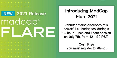Lunch and Learn: Introducing MadCap Flare with Jennifer Morse tickets