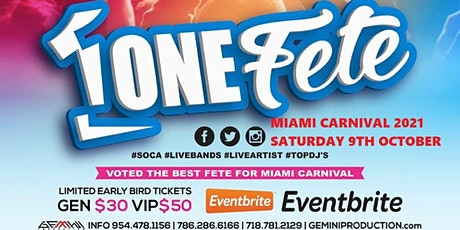ONE FETE 10-09-2021 tickets