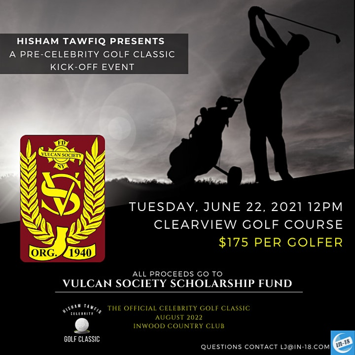 "Hisham Tawfiq presents A Golf Fundraiser, ""The Pre-Celebrity Golf Classic"" image"