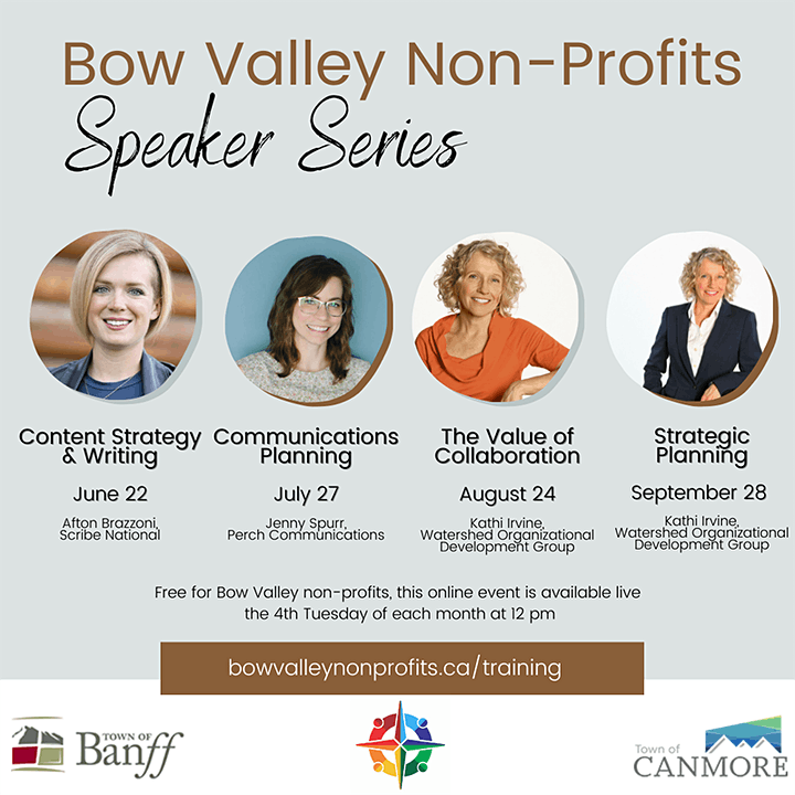 Bow Valley Non-Profits Speaker Series - Content Strategy & Writing image