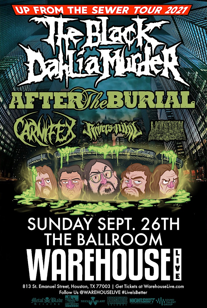 THE BLACK DAHLIA MURDER - UP FROM THE SEWER TOUR 2021 image