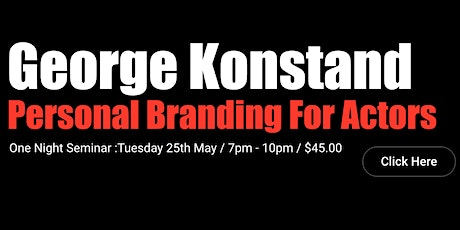Personal Branding For Actors : One Night Seminar Talk tickets