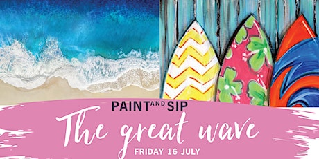 Paint and Sip - The Great Wave w. Nikki Carter - Friday July 16 tickets