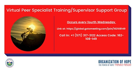 Virtual Peer Specialist Training/Supervisor Support Group tickets