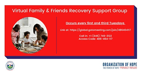 Virtual Family & Friends Recovery  Support Group tickets
