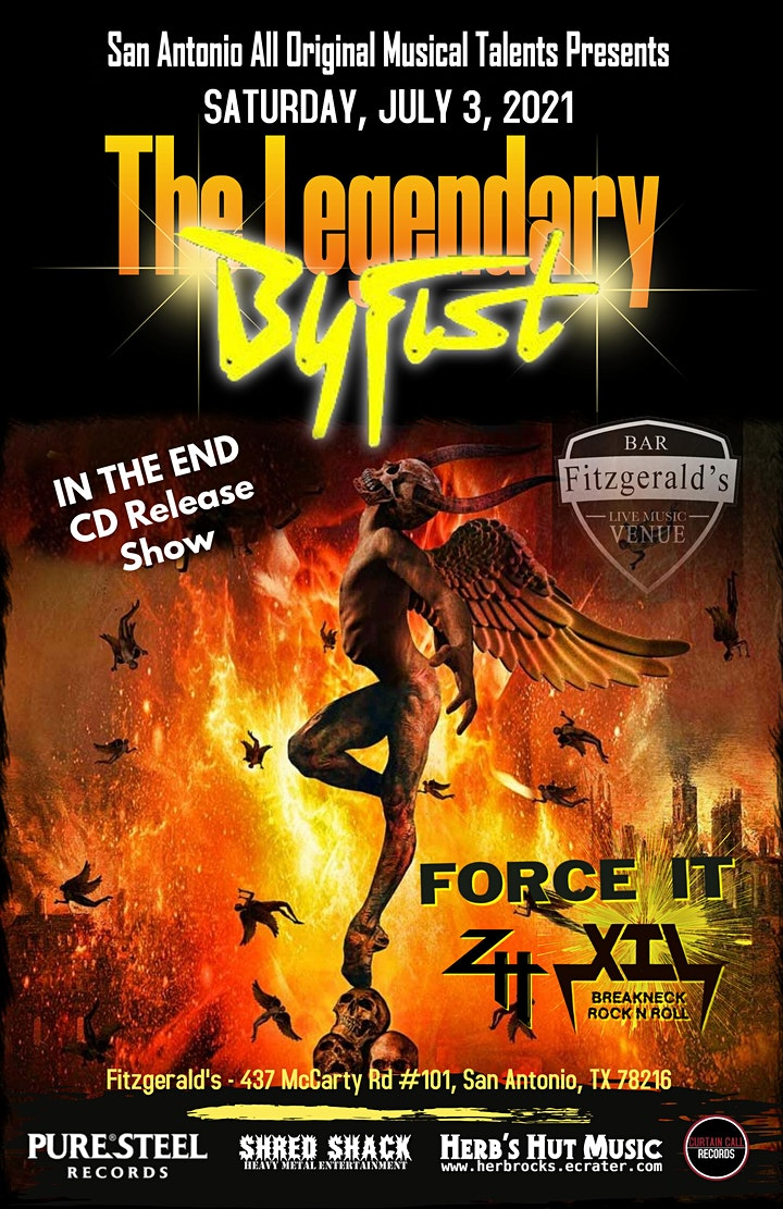 Byfist's CD Release Show special guest Force IT, Zero the Hero, and  X.I.L. image