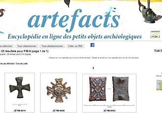 Découvrir les objets archéologiques avec Artefacts.mom.fr - scolaires billets
