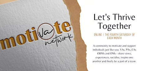 """Online Networking - """"Let's Thrive Together"""" tickets"""