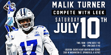 """Malik Turner """"Compete with Leek"""" Youth Football Camp tickets"""