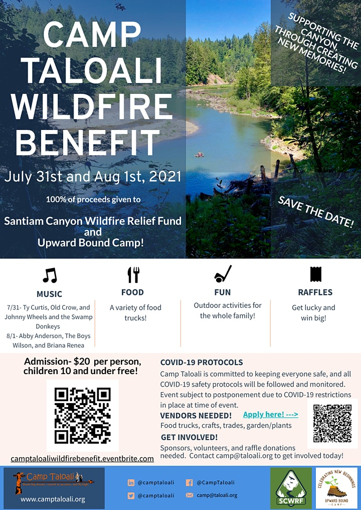 Camp Taloali Wildfire Benefit image