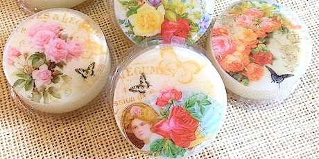 *Corporate* Online1.5hrs Natural decoupage Soap making Workshop tickets