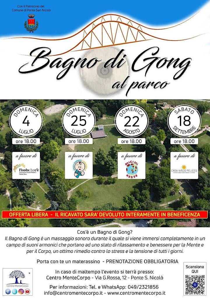 Immagine Bagno di Gong al Parco - Evento di Beneficenza