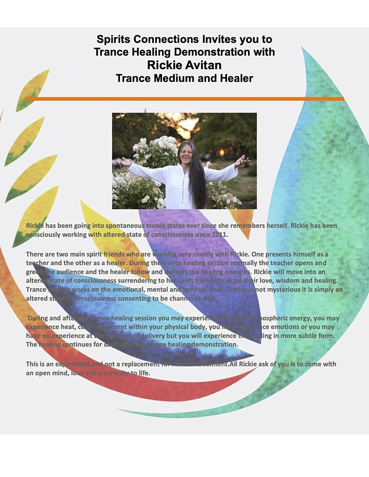 An Evening of Trance Communication & Healing with Rickie Avitan image
