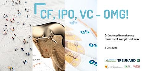 CF, IPO, VC – OMG! Gründungsfinanzierung muss nicht kompliziert sein Tickets