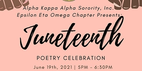 Juneteenth Poetry Celebration tickets