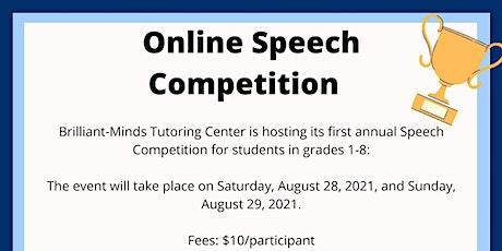 Speech Competition: Grades 1-8 tickets