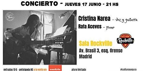 Cristina Narea (voz y guitarra) y Rafa Aceves (piano) en concierto entradas
