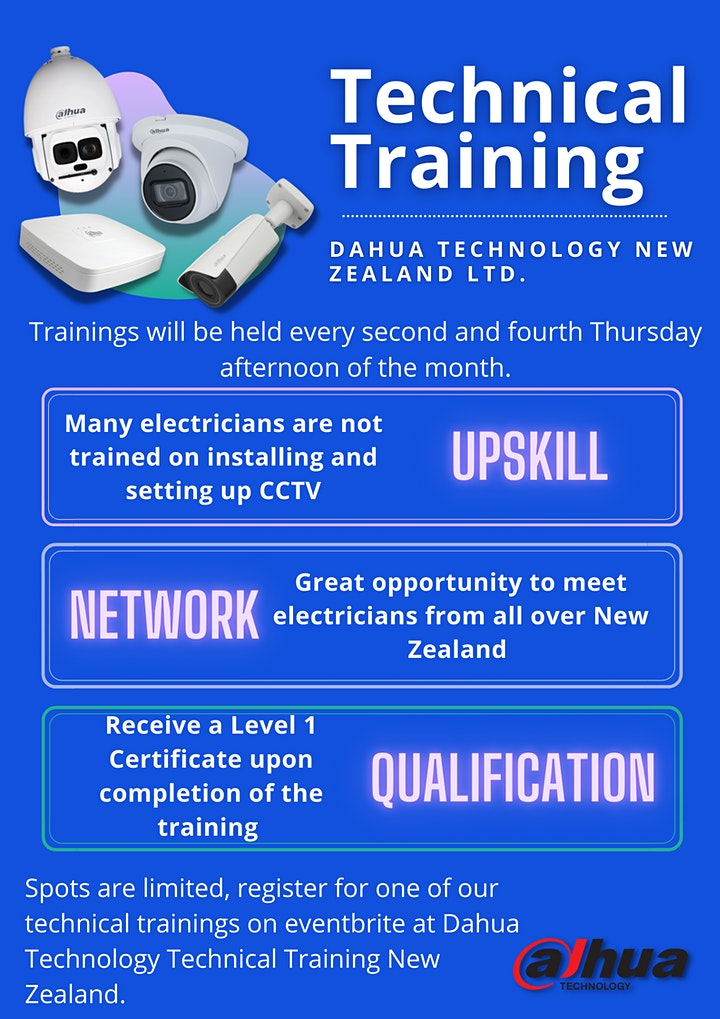Dahua Technology Technical Training New Zealand image