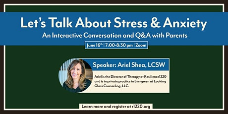 Let's Talk About Stress & Anxiety tickets