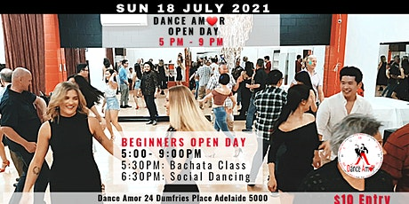 Bachata Class & Social Dancing - Dance Amor Open Day Sun 18 July 5 PM tickets