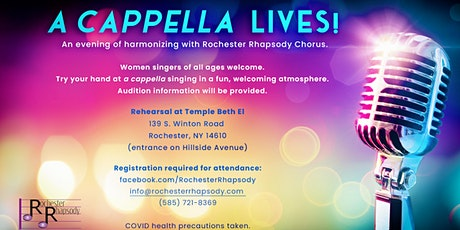 A CAPPELLA LIVES!  An evening of harmonizing with Rochester Rhapsody Chorus tickets